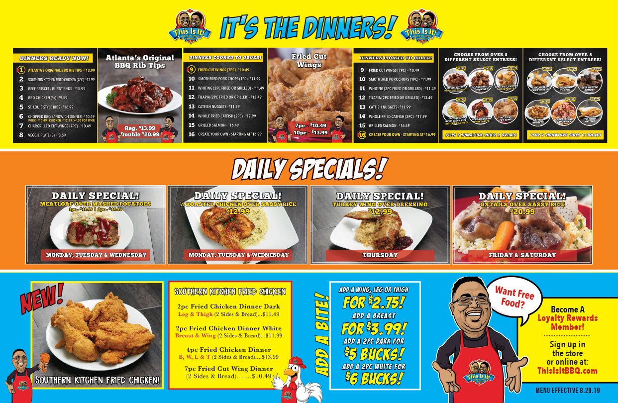 This Is It Bbq And Seafood Menu Best Soulfood In Ga